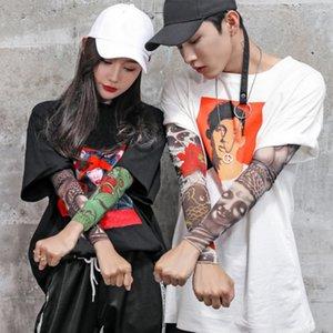 20styles Anti-Sunshine Fashion Men and Women Tattoo Arm Leg Sleeves High Elastic Nylon Halloween Party Dance Party Tattoo Sleeve