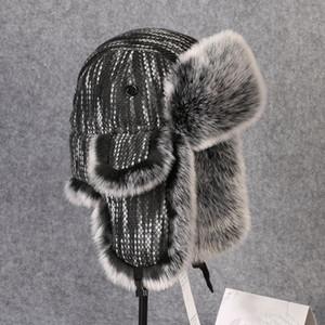 Winter Thermal Thick Earmuffs Knit Cotton Hat Männer Frauen Outdoor Wandern Angeln Skilaufen Radfahren Warm Earflaps Lei Feng Bomber Cap