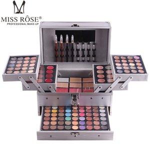Maquillaje Miss Rose Paletas Conjunto mate de la sombra de ojos en polvo frente a Barra de labios Blockbuster profesional compone el kit Bronceador colorete