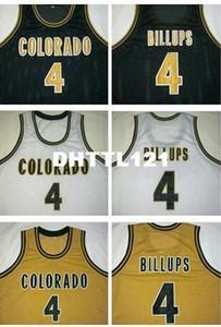 Мужчины #4 Чонси Биллупс колледж Джерси черный белый бежевый Колорадо буйволов или настроить любое количество мужчин сшитые Джерси