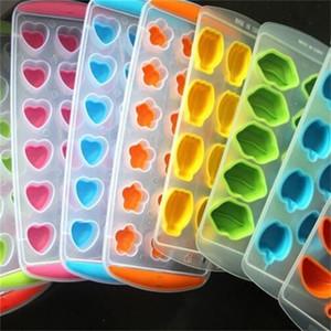 Moldes de celosía de hielo de silicona de seguridad Posición de 11 agujeros Modelado de frutas Molde de hielo Moldes de hielo transparente Creativo 1 55cm L