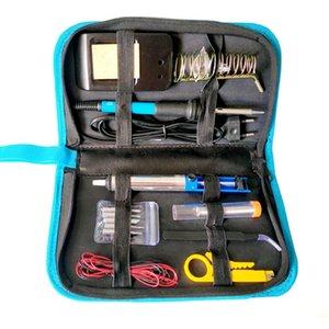 60W Electric Soldering Iron Set Temperature Adjustable Portable Repair Soldering Iron Welding Tools Solder Tip Tweezers Tin Wire