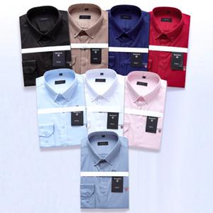 Shirt di marca elastica shirt uomo maglietta collare Fashion Dress a maniche lunghe Premium 100% cotone da uomo Camiceria