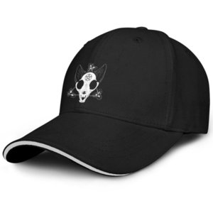 Оккультизм Викка Негабаритные Choker Водитель регулируемый Sandwich Hat Fit моды бейсбольной команды крышка Purraise Сатана кот Мой Сердце Принадлежит куна