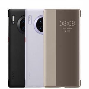 Оригинальное зеркало FLIP кожаный чехол для Huawei Mate 40Pro 40 30Pro 30 20Pro 20 держатель подставки ACK POWER для Huawei P40 Pro P30 P20
