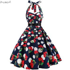 Women Polka Dot Summer Dress Big Swing Vestidos Robe Casual Prom Rockabilly Party Dress 50S 60S Pinup Vintage Dresses