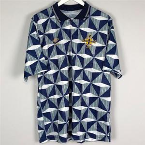 Ретро Северной Ирландии 1990-92 Футбол Джерси Футбол Футбол Футболка Camiseta Хомбре Старинные Классическая Рубашка Комплект Майо Розовой