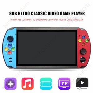 X19 Retro Handheld Video Game Player 7,0-дюймовый экран Встроенный в 8GB Игры для FC КПС Аркада NES Карманный мини игровой консоли Mp5 X7 PXP3 PVP ПАП