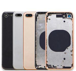 iphone 8G 8 8G 8plus X XR XS MAX Arka Kapak + Orta Şasi Çerçevesi + SIM Kart Tam Konut Case Meclisi için