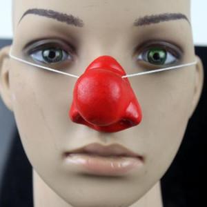 Смешные Красный Нос ПВХ Circus Clown Nose Comic Party Supplies Хэллоуин аксессуары Костюм Волшебное Клоун нос джокер платье для вечеринок