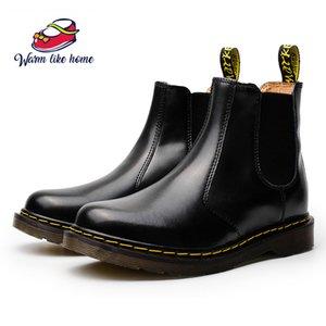 34-46 Chunky Bottes moto femme Homme Automne cheville Fourreaux ronde Fashion Bottes combat Toe Chaussures pour femmes chaud Livraison gratuite