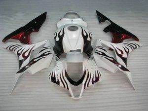 Kit de carénage pour HONDA CBR600RR 07 08 CBR 600RR 2007 2008 CBR600F5 Ensemble de carénages ABS blanc rouge flammes
