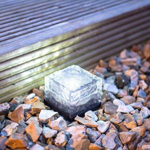 Солнечная панель подземный свет Напольная плитка моделирования формы для льда ночника солнечной энергии работает в саду PLAZA украшения светильника