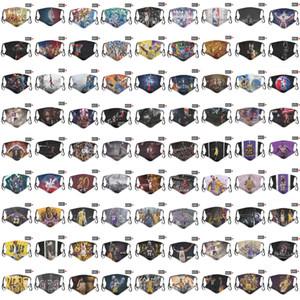 DHL 2020 neue Designer Persönlichkeit 5 Ebenenmasken Männer und Frauen Baumwolle Masken All-Star-Basketball-Team Basketball-Maske PM2.5 Gesichtsmaske