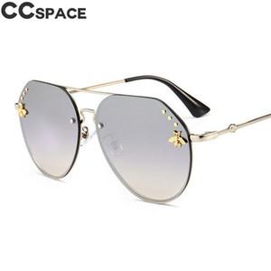 2018 gafas de sol de la vendimia de las mujeres piloto Abeja de Oro Sombras UV400 CCSPACE Marca vidrios de la manera de los hombres 47737 Oculos