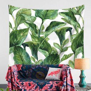 2018 Nordic Tropical Banana Leaf Feuille multifonction Green Turtle Retour Tapestry Couverture Tenture Serviette de plage