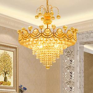 LED Modern Kristal Avize Işıklar Armatür Avrupa Klasik Altın Avizeler Salon Odası Restoran Ev İç Aydınlatma Yemek Servisi Oda