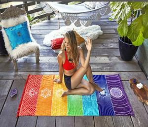 8 ألوان معلقة بطانية قوس قزح 7 شقرا ماندالا بوهيميا بطانية نسيج الصيف الشاطئ منشفة اليوغا حصيرة