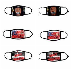 JE RESPIRER Masques vie noire Matière Masque George Floyd Adulte Masques Enfants Lavable Réutilisable Trump États-Unis Drapeau visage Masque Designer RRA3143