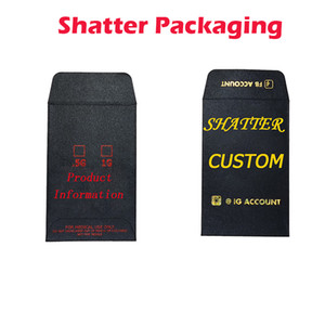 Envelopes Shatter Concentre Personalizado Pré rolo de embalagem impressos Mini Envelope Edibles Pacote Hot Stamping para Erva seca Flores Packing