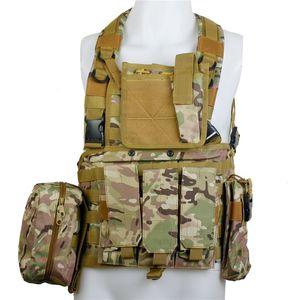 RRV tattica di Molle Gilet militare Chest Rig esercito combattere armatura portante del piatto CACCIA ingranaggi Wargame Paintball Airsoft Vest