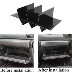 Black ABS Car Copilot Storage Box Clapboardr Decoration Cover For Toyota 4Runner   Super 2017+ Car Interior Accessories