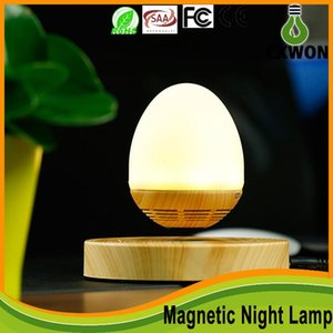 Novelty Maglev lamp Levitating Bluetooth Floating Speaker magnetic LED Night lamp Wireless function for Android IOS System loudspeaker light