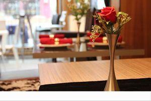 Accessori Ornamenti Porto Rotondo unico europeo dei vasi di fiore dell'acciaio inossidabile di modo Vaso Home Decor per soggiorno