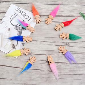 Presentes Boy Girl Troll cabelo colorido Boneca Membros da família papai Mamãe Bebê Leprocauns Dam Trolls de brinquedo Amor feliz da família