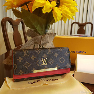 free shpping Wholesale red bottoms lady long wallet multicolor designer coin purse Card holder original box women classic zipper pocket