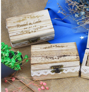Ring Storage Box Schmuck-Bins Holzträger Boxs Hochzeit Dekoration liefert Simple Home robust und langlebig Heiße Verkäufe 20mtC1