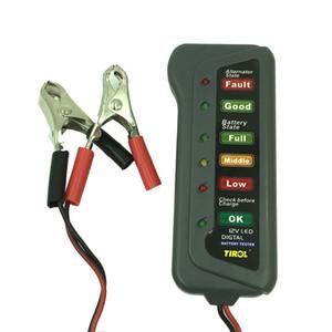 10pc Últimas metros testador de bateria de carro de design do alternador bateria Tester com 6 luzes LED Display Bateria ferramenta de diagnóstico de carro