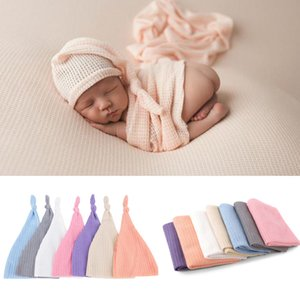 Newborn infant photography wrap with hat set fashion baby Girls boys Photograph Blankets kids Photography props costume Swaddling Z1137
