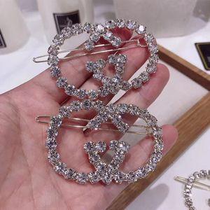 Nueva llegada Mujeres Letra G Pinza de pelo de lujo Diamantes de imitación Carta Barrettes para fiesta de regalo Accesorios para el cabello de moda Epacket Envío