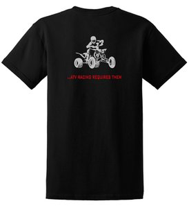 2019 Yeni Yaz Serin Tee Gömlek Atv Yarışları Gerektirir topları Sadece Sürmek T Gömlek Quad Yfz 450 Fourtrax 4 Wheeler Pamuk T Gömlek
