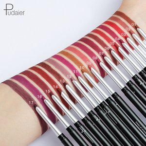 Pudaier 17 Colors Waterproof Lip Liner Stick Pencil Maquillajes Lipstick Femme Longue Lip Liner Metal Women Lasting Lipliner