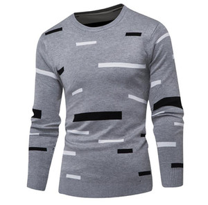 Men Sweater Pullover 2019 Male Brand Casual Mulit-Color Fashion Simple Sweaters Men Comfortable Hedging O-Neck Men'S Sweater