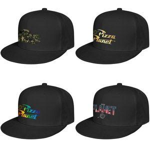 Hombres Pizza Planet Alien Truck oro Flash y para mujer Borde plano gorra de béisbol de la vendimia Equipada personalizada gorras de camuflaje Gay orgullo del arco iris