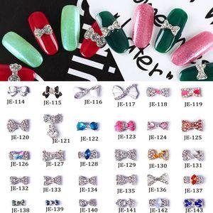 Multi-estilo 3D Strass Arco Charme (100 pcs) Flor Espumante Unhas Encantos Diamantes Para Nail Art Decor Manicure Ferramentas TMBC