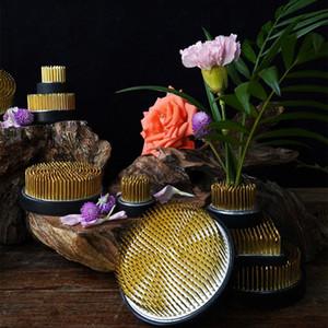Fashion Round Ikebana Flower Frog Gasket Art Fixed Arranging Tools CollectionPRA