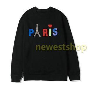 2020 caliente de lujo para hombre invierno Europa París Torre Eiffel sudaderas carta impresión de la manera ocasional de la camiseta para mujer de imprimir sudaderas con capucha de diseño