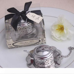 """A New arrival 50pcs lot Wedding favors """"Tea for Two """" Teapot Tea Infuser Favors Bridal Shower Party Gifts Free shipping"""