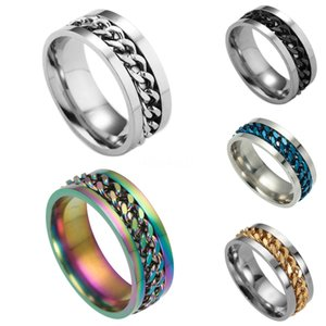 Valentine'S Day Gift- Mixed Order Dropshipping Stainless Steel Rings Mens Ring Chain And Tyre Design Rings Jewelries Factory Supplier 414 #16
