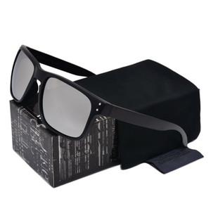 نوعية موثوق بها أعلى جودة النظارات الشمسية للرجال الأسود VR46 إطار النار عدسة جديد 9102 العلامة التجارية مصمم النظارات مع صندوق البيع بالتجزئة مجانا