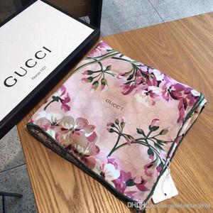 Designer de luxo cachecol de alta qualidade marca de lã de seda fio de Prata lenços quadrados Para as mulheres grande luxo tamanho do lenço 200 * 70 cm 144