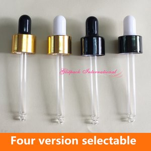 Black Gold Ring and Black White Latex Head Dropper cap 5ml 10ml 15ml 20ml 30ml 50ml 100ml essential oil bottle pipette