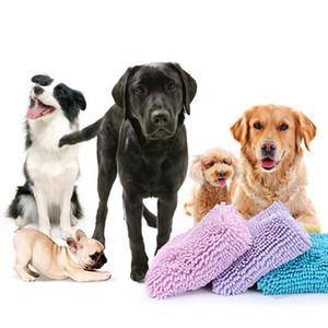 Dog Cat toalla de baño para mascotas Blanket súper absorbente del perrito del perro de fibra de toallas de baño estera de baño toalla mascota para pequeño mediano grande perros