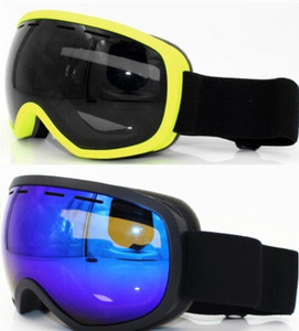 Hot men Double layer anti fog surface Revo coating large sphere double layer anti fog ski glasses card myopia men and women wholesale yakuda