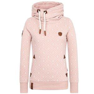 2020 Autumn Winter fleece loose Womens Casual Hoodies Sweatshirt Print Long Sleeve Jumper Hooded Pullover Tops Female Tracksuits Y200706