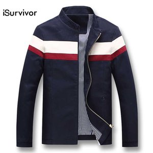 iSurvivor 2018 Homens Primavera Patchwork Jaquetas e Casacos Jaqueta Masculina Masculino Moda Casual Slim Fit Zipper Casacos Hombre